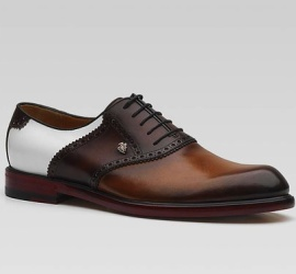 chaussure en cuir de vachette